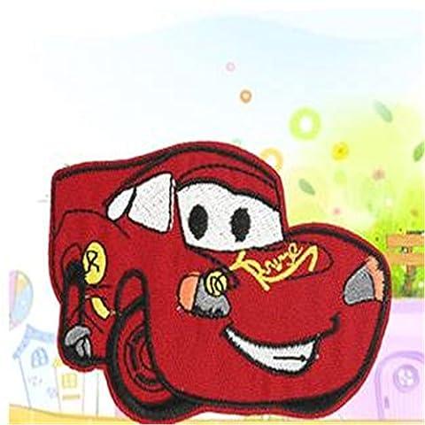 coolpart Embroidered Iron on Patches für Kleidung Süßes Cars McQueen Deal mit IT Kleidung DIY Motiv Aufnäher perfekt Patches