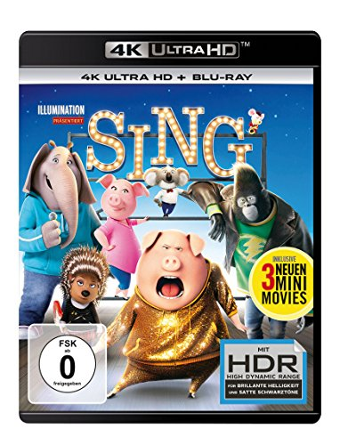 Sing  (4K Ultra HD) (+ Blu-ray) (50 S Frisur)