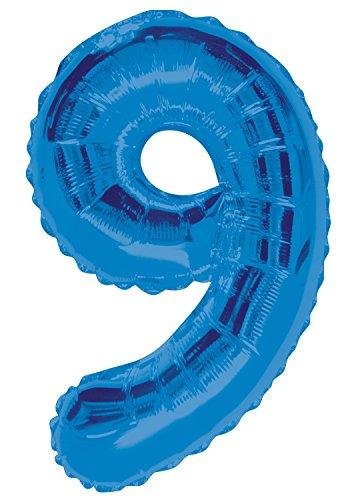 Mylar-band Blaue (Folienballon im Zahlen-Design, groß, 86,4cm)