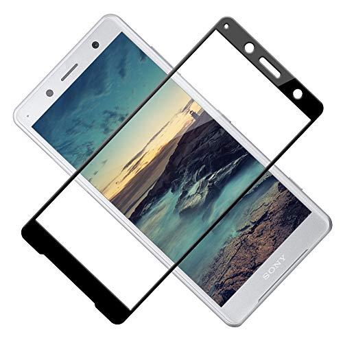 Panzerglas Schutzfolie kompatibel mit Sony Xperia XZ2 Compact, Vollständige Abdeckung, Ultra-HD Folie, Anti-Kratzen, Anti-Öl, Anti-Bläschen Glas Bildschirmschutzfolie für Xperia XZ2 Compact, 2 Stück