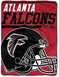 Northwest NFL ATLANTA FALCONS 40 Yard Dash Micro Raschel Throw Blanket