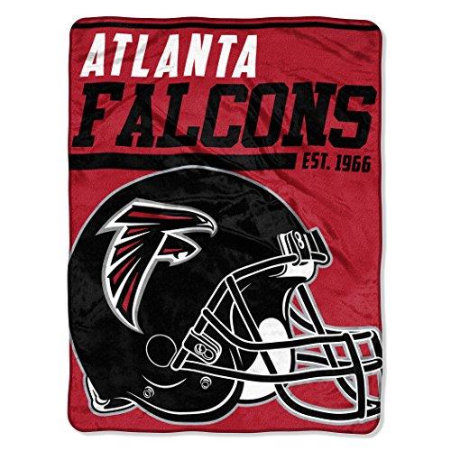The Northwest Company NFL Atlanta Falcons 40-Yard Dash Micro Raschel Überwurf Plüschdecke 117 x 152 cm , Rot