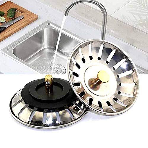 Spülstopfen, Filter Stopper Edelstahl Kitchen Sink Sieb für die meisten modernen Franke Spülbecken, 2 Stück