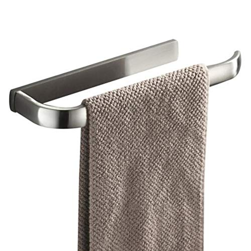 BOATX Matt Gebürstet Kurz Handtuchhalter Handtuchring Handtuchstange Wandhandtuchhalter aus Messing Wandmontage Bohren für WC Badezimmer -