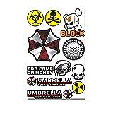 Umbrella Corporation Resident Evil Biohazard Tête de mort Stickers Autocollant...