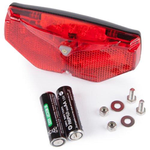 Ultrasport Luce Posteriore LED Automatica per Bicicletta, 5 LED, Accensione e Spegnimento Automatici in Caso di Oscurità e Movimento - Led Luce Posteriore Della Bicicletta