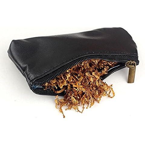 Portable Durable–Pipa para tabaco de cigarrillos de cremallera soporte bolsa, hombre mujer, negro