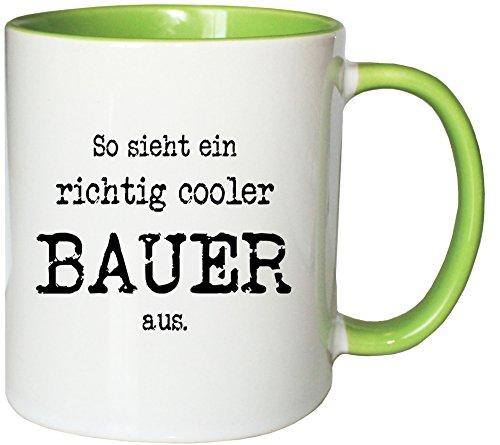 Mister Merchandise Kaffeetasse Becher So Sieht EIN richtig Cooler Bauer