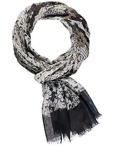 Taifun Damen Schal Mit Schlangen-print Black gemustert 99 (Schwarze Schlangen)