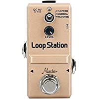 Rowin Pedal de efectos de Guitarra Looper True Bypass con 10 minutos de Looping-Loop Station Gold