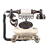 Qdid Old Fashioned Retro Classic Teléfono con Cable Teléfono Fijo con Botón De Resina Inicio Teléfono con Cable Vintage con Flash Re-Dial Multifunción (Color : B)