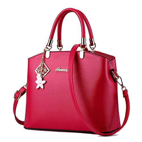 Wewod, Borsa a spalla donna Multicolore Multicolore 29mx12cmx23cm, rosso (Multicolore) - JX-ap83 Rose Red