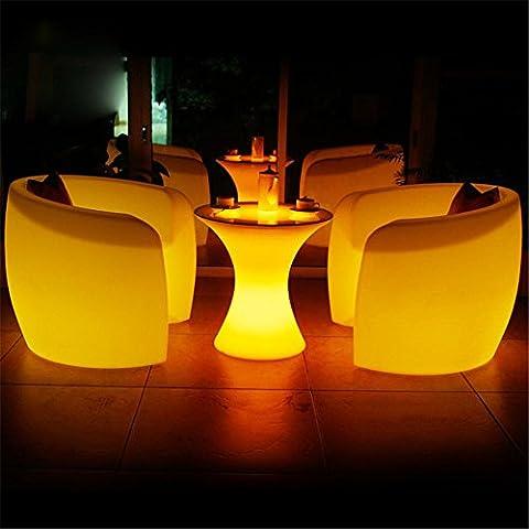 XIAOMINZI Carica Il Controllo Remoto Bar Cafe Tabella Semplice E Moderno Caduta Di Plastica Impermeabile Luminoso A Led Girovita Tavolino Da Caffè , Il Telecomando 16 Colore, 4 Colori , D58Xh60Cm