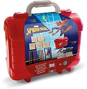 Multiprint Travel Set valigetta in plastica Spiderman - Juegos de Sellos para niños (Multicolor, Niño, 3 año(s), Spiderman, 230 mm, 105 mm)