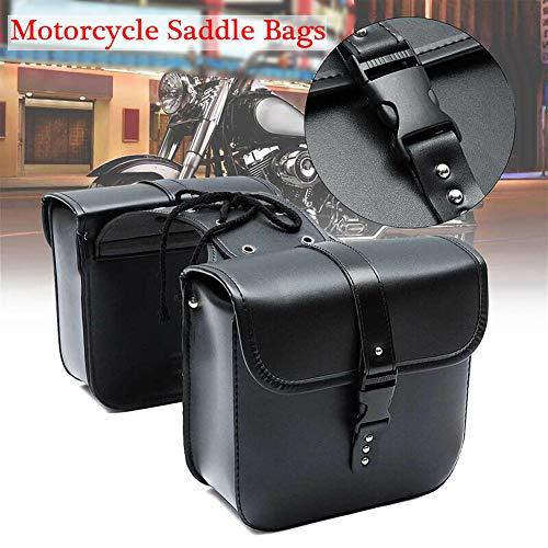 housesweet Motorrad Satteltasche wasserdichte PU Leder Packtaschen Aufbewahrungstasche Schwere Werkzeugtasche