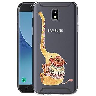 Fantasyqi Hülle Kompatibel für Samsung Galaxy J7 2017 Ultra Dünn Transparent Weiche Silikon TPU Handyhülle Anti-Kratz Schutzhülle Stylisch und Langlebig Stoßfest Geeignet für Samsung Galaxy J7 2017(E)