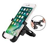 DONWELL support vélo Support pour téléphone portable, universel robuste 360rotatif de vélo de moto en alliage Guidon Cradle pour tous les téléphone portable et GPS jusqu'à 10cm, Noir