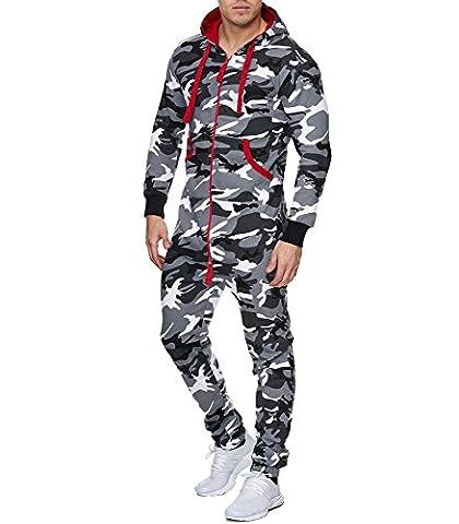 Violento - Combinaison de jogging camouflage Combi camouflage 5106 blanc - XXL - Blanc