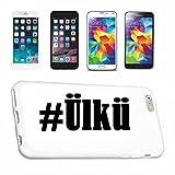 Handyhülle iPhone 7+ Plus Hashtag ... #Ülkü ... im Social Network Design Hardcase Schutzhülle Handycover Smart Cover für Apple iPhone … in Weiß … Schlank und schön, das ist unser HardCase. Das Case wird mit einem Klick auf deinem Smartphone befestigt
