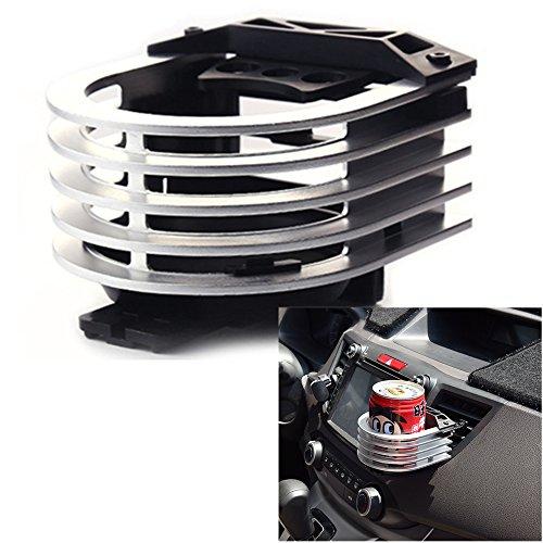 Langdy Aluminiumlegierung Verstellbare Autohalterung, Outlet Cup Holder Auto Outlet Drink Rack, Getränkehalter für Luftkühler/Liter Dosen/Kaffeetassen/Isolierflaschen (Silber) -