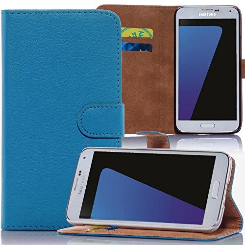numerva Sony Xperia E3 Hülle, Schutzhülle [Bookstyle Handytasche Standfunktion, Kartenfach] PU Leder Tasche für Sony Xperia E3 Wallet Case [Hellblau]