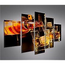 Bild Bilder Auf Leinwand Bar Drinks Bartender Whiskey MF XXL Poster  Leinwandbild Wandbild Dekoartikel Wohnzimmer Marke