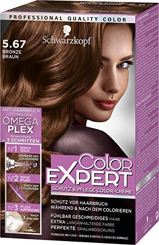 Schwarzkopf Color Expert Intensiv-Pflege Color-Creme, 5.67 Bronze Braun Stufe 3, 3er Pack (3 x 167 ml)