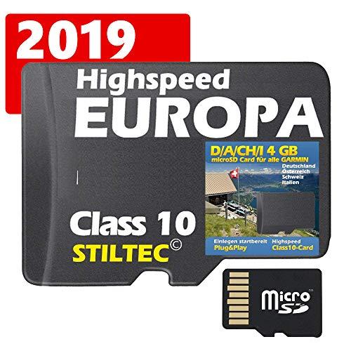 Deutschland, Österreich, Schweiz, Italien 4 GB Topo Map - Für Garmin Edge 810 -