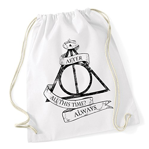 Sacca da ginnastica Harry Potter - After all this time? Always - dimensioni: 36x46 cm
