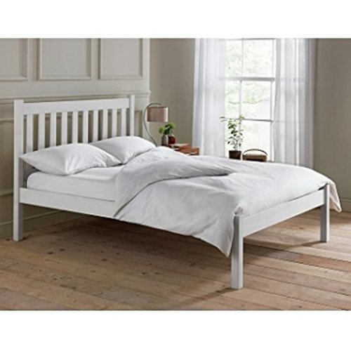 Avebury 5ft King Size Bed Frame - White Finish