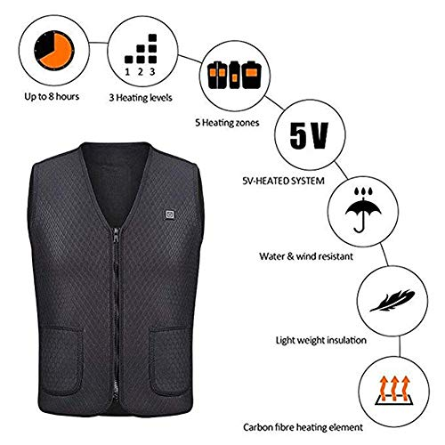 51Lnck2T%2BxL. SS500  - OUTANY USB Rechargeable Electric Body Warm Vest, Temperature Adjustable, Washable, Heated Clothing