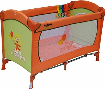 Cuna de viaje - Cunas y camas - Cuna plegable - Cuna infantil - Travel Cot ARTI Basic Fresh Ala Orange Green