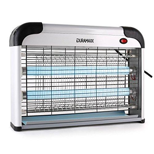 DURAMAXX • Mosquito Ex 4000 • Insektenvernichter • Mückenschutz • Insektenlicht • elektrisch • Outdoor • UV Lampe für draußen • 2 x 10 Watt • 100 m² Wirkungsbereich • Aufhängvorrichtung • ohne Chemie und Giftstoffe • Auffangschale • geruchsneutral • weiß