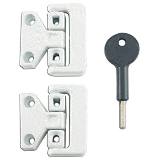 Supreme Window Lock 8K106 White x2 and Key
