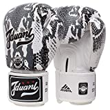 Guantoni da boxe Junior Kids & Adult Taglie Muay Thai Training in pelle Sparring Punching Bag, bianco, 12 once