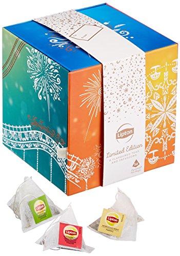 Lipton Aufklappbare Premium Tee Geschenkbox (8x7 Pyramidenbeutel), 1er Pack (1 x 99 g)