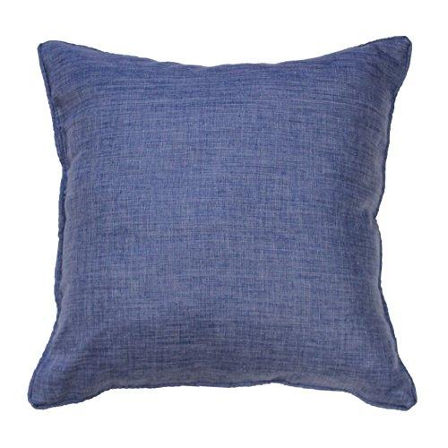 Douceur d'Intérieur Chambray Kissen, Polyester, Uni, Newton, blau, 60 x 60 cm -