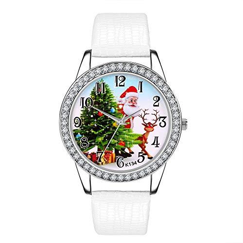 Armbanduhr Damen Ronamick Damen uhr Weihnachten Diamant Lederband Analog Quarz Vogue Armbanduhren Gif Armband Armbanduhr Uhr Uhren(WH)