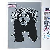 Jesus krone of stachel schablone, streichen wände stoff und möbel, wiederverwendbar kunst handwerk Ideal Stencils Ltd - M/26X30CM