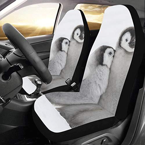 Entzückende Kaiserpinguin Familie Benutzerdefinierte Neue Universal Fit Auto Drive Autositzbezüge Schutz Frauen Automobil Jeep Lkw Suv Fahrzeug Full Set Zubehör Erwachsene Baby (set Von 2 Vorne) -