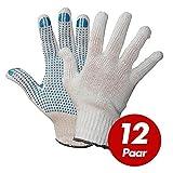 Polyester Strickhandschuhe KORL mit PVC Noppen Arbeitshandschuhe Handschuhe Noppenhandschuhe VPE 12 Paar, Größe:10 (XL)