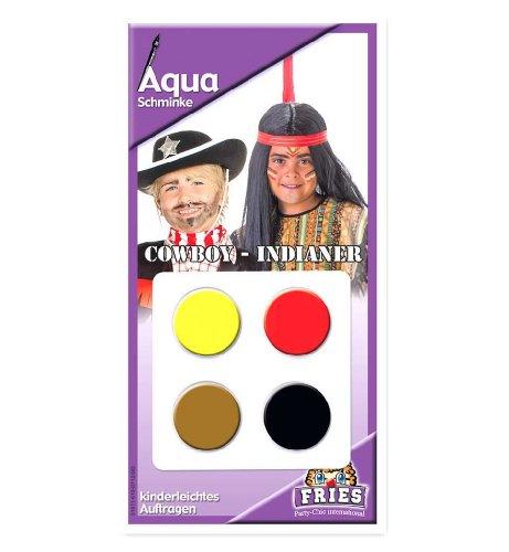FASCHING 31611 Aqua Schmink-Set Indianer Cowboy Schminke NEU/OVP