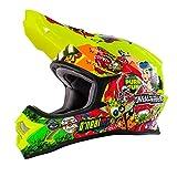 O'Neal 3Series MX Helm Crank Neon Gelb Hi-Viz Motocross Enduro Quad Offroad Cross, 0623-48, Größe XL (61/62 cm)
