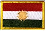 Écusson brodé Flag Patch Kurdistan - 8 x 6 cm