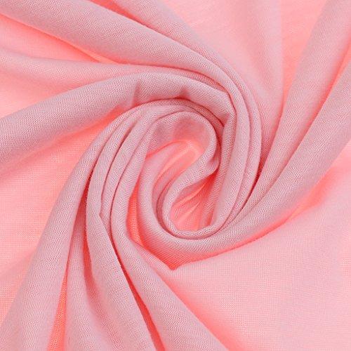Homyl Haut en Vrac Débardeur Manches Longues Top Col Rond Femme Vêtement Sexy Cadeau Rose