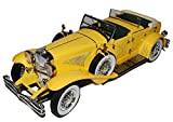 Greenlight Duesenberg II SJ Gelb Cabrio Der Große Gatsby Film 1/18 Modell Auto