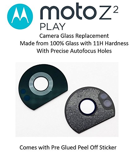 Kyrahh Back Rear Camera Glass Lens Replacement for Motorola Moto Z2 Play Mobile Phones with User Manual and Preinstalled Adhesive