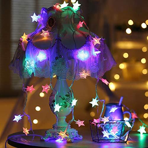 YAMADIE 1.5M Star Light String 10LED Laterne Hochzeit Dekoration Lichter Urlaub Lichter Wasserdicht Innen- Und Außenbeleuchtung, Garten, Hochzeit, Party, Lichterketten -