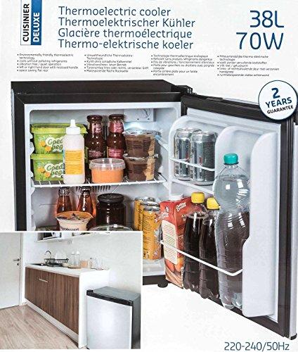 Mini-Kühlschrank, freistehend, thermoelektrisch, geräuscharm, Volumen ca. 38 l, Höhe ca. 50 cm (Kühlschrank Thermoelektrischer)
