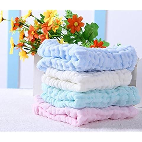 Confezione da 10Baby in mussola di cotone, asciugamani–30x 30cm Deluxe Soft 6strati traspirante garza cotone–Best Baby asciugamani, asciugamano Wipes, Premium riutilizzabile–Cura per Pelle Secca e Sensibile